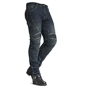 Pantalones vaqueros para motocicleta para hombre Maxler ...