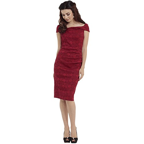 Voodoo-Vixen-Maisie-Lace-Overlay-Super-Stretch-Pencil-Dress-Red