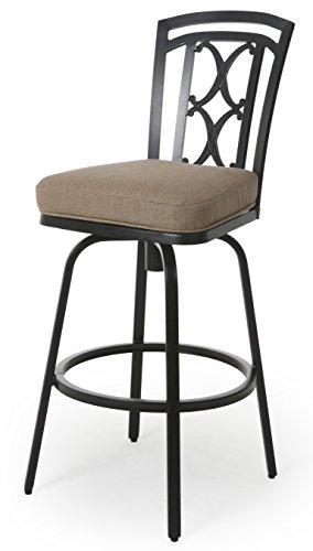 Cheap Jimin II 30″ Outdoor Bar Stool, Autumn Rust/Sesame Linen