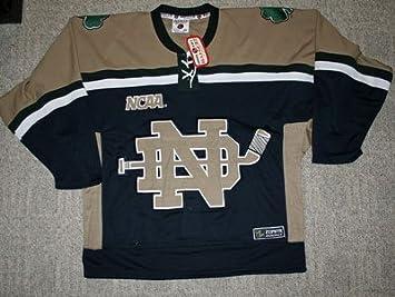 big sale 7b0dc 5c02f Notre Dame Fighting Irish Blue & Khaki Hockey Jersey by ...