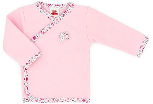 Baby-Mode Mädchen Wickelshirt - Wickeljacke -Kollektion Small Bow 00117- (62)