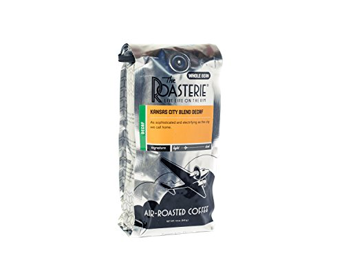 The Roasterie Air Roasted Coffee - Whole Bean Selections - 12 ounce (DECAF Kansas City Blend)