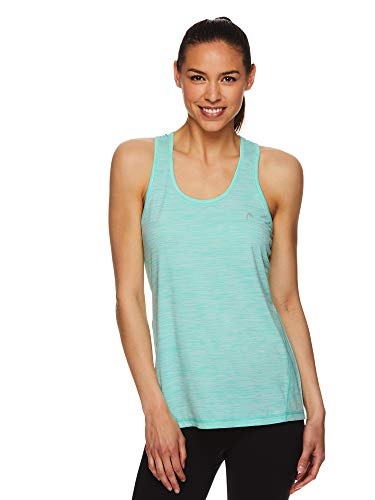 (HEAD Women's Racerback Tank Top - Sleeveless Performance Activewear Shirt w/Open Back Options - Cockatoo Heather, Large)