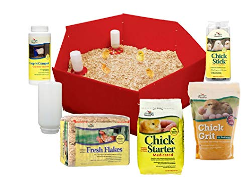 Manna Pro Deluxe Chick Starter Kit Includes (Food, Supplements, Treat, Feeder, Waterer, Nursury, lamp Stand, Bedding)...