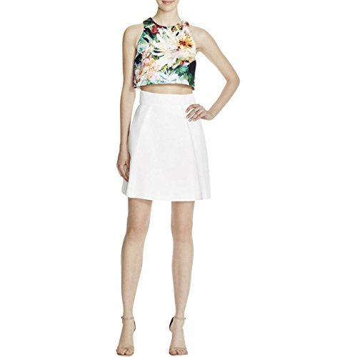 Buy black halo black and white dress - 7