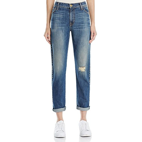 Current/Elliott Women's Fling Jeans, Whiskey Destroy with Studs, 24
