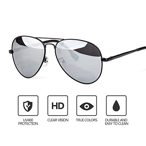 Mens Sunglasses Aviator, Polarized, Anti - UV, Metal Frame, Driving Fishing Mirrored Lens Sun - Sunglasses Mirrored For Polarized Aviator Men