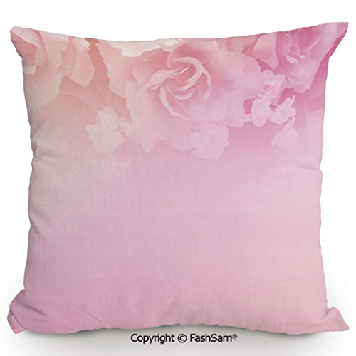 FashSam Throw Pillow Covers Rose Petals in Soft Pastel Tones Romantic Bridal Floral Valentines Graphic Artwork Decorative for Couch Sofa Home Decor(24