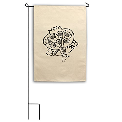 One Tulip Canvas (Color Your Color-In Tulip Flowers #1 Canvas Yard House Garden Flag 18