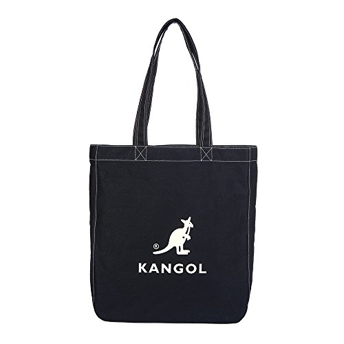 KANGOL Cotton Tote Bag for School Work Travel and Shopping Fashionable Shoulder Bag, Eco Friendly Bag Juno 0011 (Dark Navy) by Kangol (Image #5)