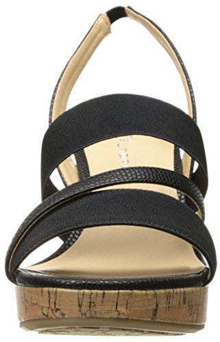 CL by Chinese Laundry Womens Intend Wedge Pump Sandal Black Lizard FBMY5