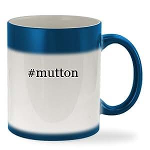 #mutton - 11oz Hashtag Color Changing Sturdy Ceramic Coffee Cup Mug, Blue