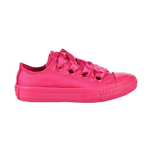 Converse Girls' Chuck Taylor All Star Big Eyelets Sneaker, Fuchsia, 4.5 M US Kid