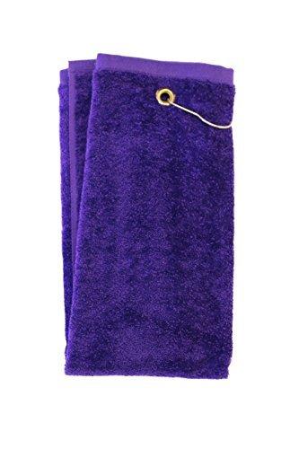 - Tri-Fold Golf Towel (Purple)