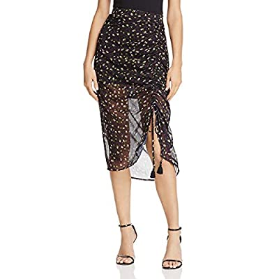Rebecca Minkoff Womens Below Knee Ruched Asymmetrical Skirt