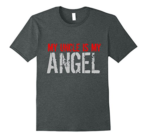 Mens My Uncle Is My Angel T Shirt 3Xl Dark Heather