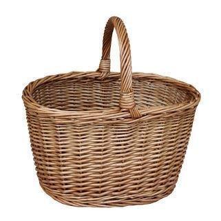 Apple Wicker Shopping Basket