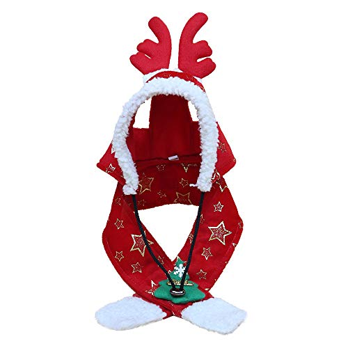 Christmas Scarf Hot Sale!!Kacowpper Pet Dog Cat Caps Christmas Tree Star Sparkling Printed Hat and Scarf