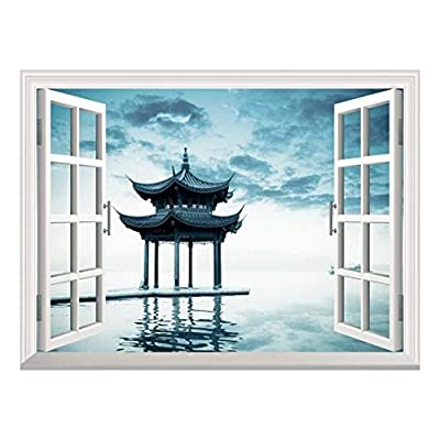 Removable Wall Sticker Wall Mural Ancient Chinese Pavilion...