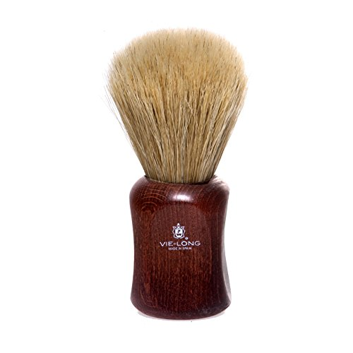 (Vie-Long PB15830 Special Horse Hair Shaving Brush, Red Wooden Handle)