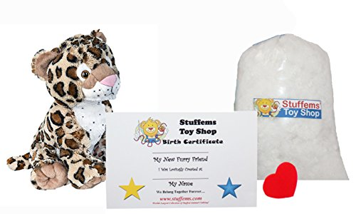 Make Your Own Stuffed Animal Mini 8 Inch Charlie the Cheetah Kit - No Sewing Required!