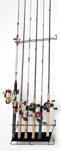 Rackems 7002 Vertical 6-Rod Fishing Rod Rack (Deluxe)
