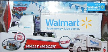 2012 Edition Disney Cars Wally Walmart Wal-Mart Hauler Truck 1:55 Scale Mattel Race O Rama Edition Mattel