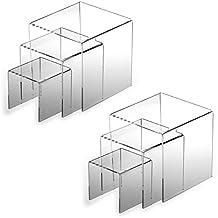 Adorox Top Quality ( 2 Set ) Clear Acrylic Display Riser