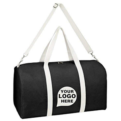 Biggie Cotton Duffel Bag - 20 Quantity - $19.09 Each - PROMOTIONAL PRODUCT / BULK / BRANDED with YOUR LOGO / CUSTOMIZED by CloseoutPromo