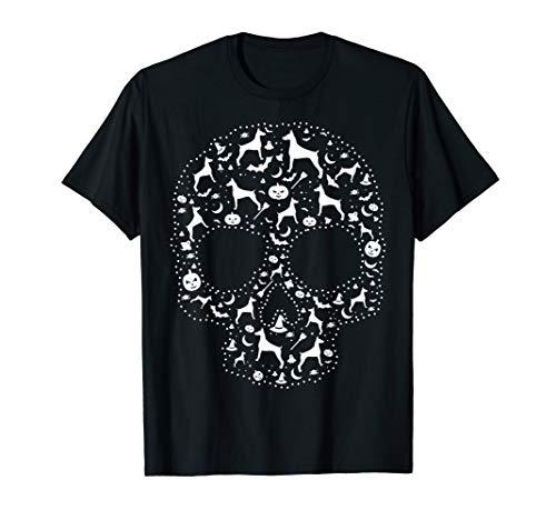 (Pooch Sugar Skull T-shirt cute Doberman)