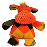 HuggleHounds Plush Durable Squeaky Chubbie Buddies Hippo Toy, Large