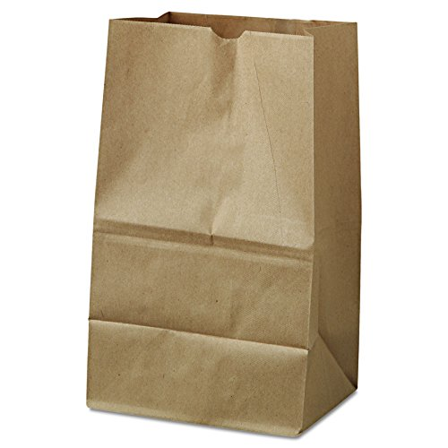 Duro ID# 18421 20# Short SOS Bag 40# 100% Recycled Natural Kraft, 500 Piece
