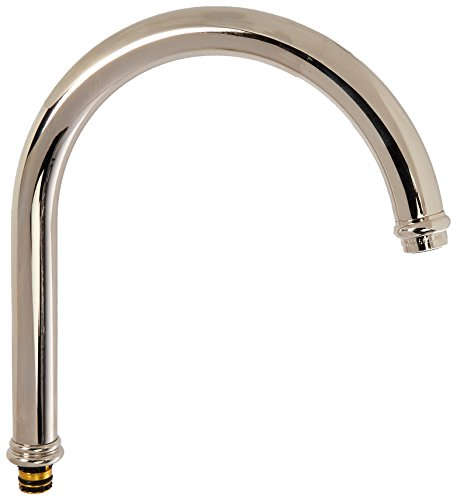 Rohl C1460PN Country Kitchen C Spout Only with O-Rings for The A1461 Bridge Kitchen Faucets, Polished Nickel by Rohl