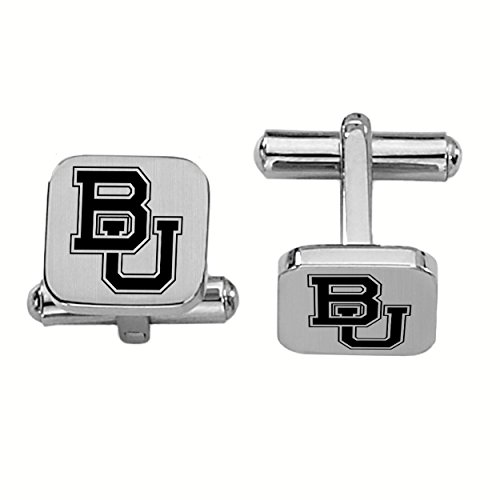 College Jewelry Baylor Bears Stainless Steel Square Cufflinks by College Jewelry