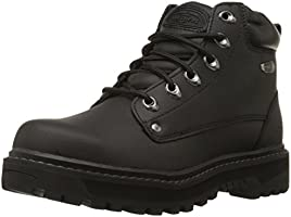 Skechers Men's Pilot Utility Boot, Black, 9.5 M US