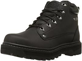 Skechers Men's Pilot Utility Boot, Black, 13 W US