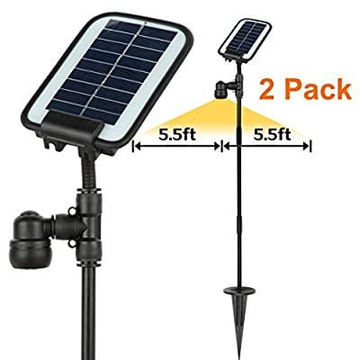 AMSU 2 Packs GL0 InnovativeBroad-Beamed Solar Garden/Path Light --Much Brighter than Normal Garden Light -Covering A 11 Foot Diameter Area --Working All Year Round All Night Round in Most Areas