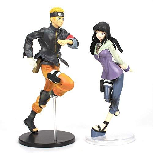 FENXX Naruto Shippuden : Figurine PVC Uzumaki - Statue De Posture De Course Naruto Uzumaki - Figurine PVC Hinata Hyuga De Naruto Gals - Couple (2 Personnages d Action)