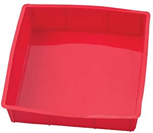 Mrs. Anderson's Baking Silicone 9-Inch Square Cake Pan Baking Mold, BPA Free, Non-Stick European-Grade Silicone, 9 x 9-Inches