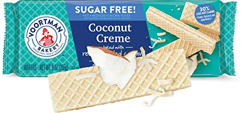 Voortman Bakery Sugar Free Wafer Cookies, Pack of 4 (Sugar Free Coconut) (Coconut Sugar Free Cookies)