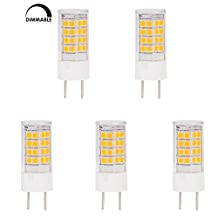HERO-LED DG8-45S-WW27 Dimmable T4 G8 LED Halogen Replacement Bulb, 3.5W, 35W Equivalent, Warm White 2700K, 5-Pack(Oversize, Will Not Fit Puck Lights)