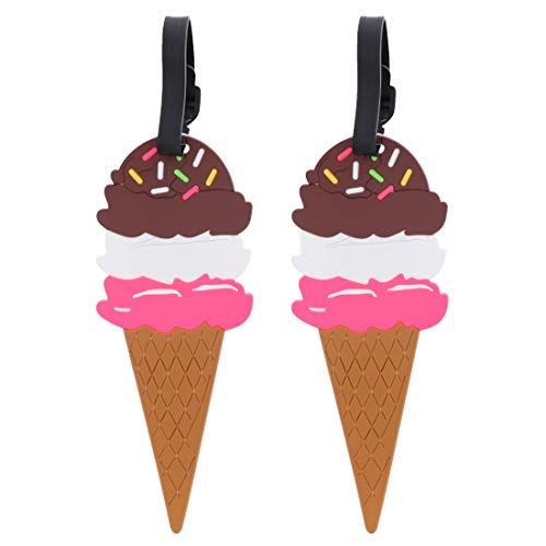 Neopolitan Ice Cream Luggage Tag - Set of 2 - Suitcase ID Holder