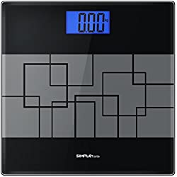 SimpleTaste Precision Digital Body Weight Scale Bathroom Scale with Step-on Technology and Lighted Display, 400lb /180kg