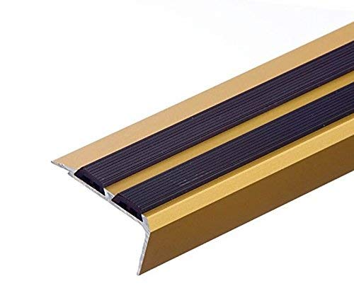 Aluminium Anti Non Slip Stair Edge Nosing -Trim- 900x35x20Mm Cezar