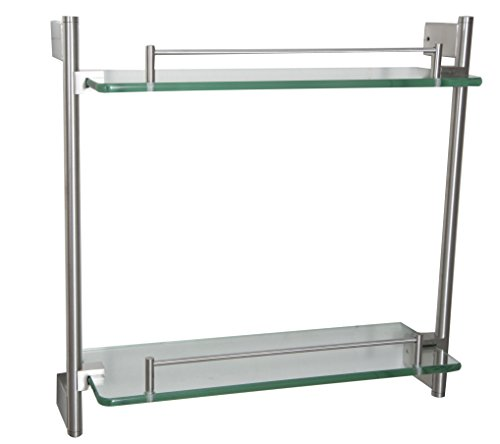 Ucore Inc 15''x15'' Double Glass Shelf by Ucore