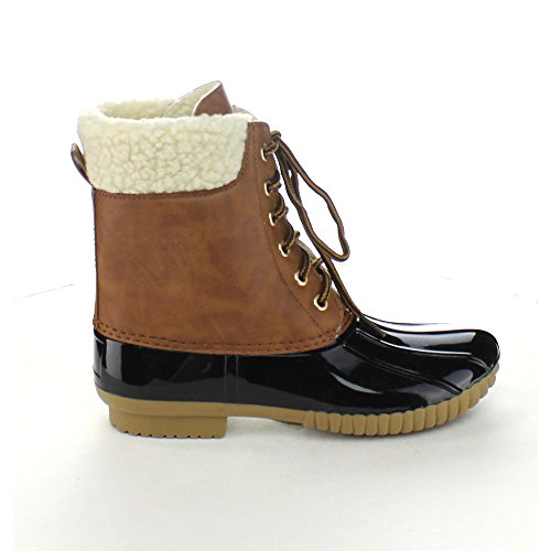 Black Tone Rain Small Two Dylan x One n Axny Size Lace 8 Boots a Women's 3 y up Duck Ankle Uw48Bp