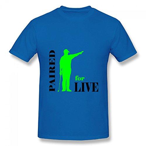 Men Golf Tees Short Sleeve Cotton T-shirt Blouse Tops 01-XXL-Blue