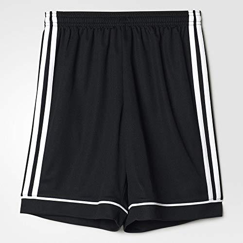 adidas Youth Soccer Squadra 17 Shorts, Black/White , Large