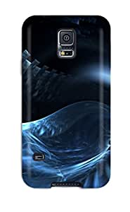 For Galaxy Case, High Quality Abstract Blue For Galaxy S5 Cover Cases