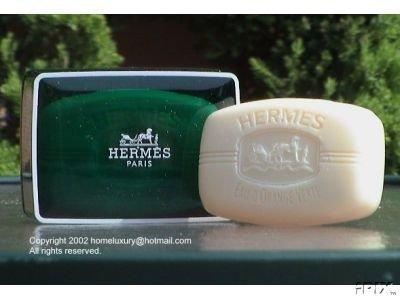 Two (2) Luxury Hermes d'Orange Verte Gift Soaps From Hermes Paris 3.5oz / 100g Boxed Perfumed Soaps / Savons Parfume